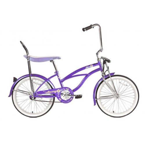 retro style purple bike for girls