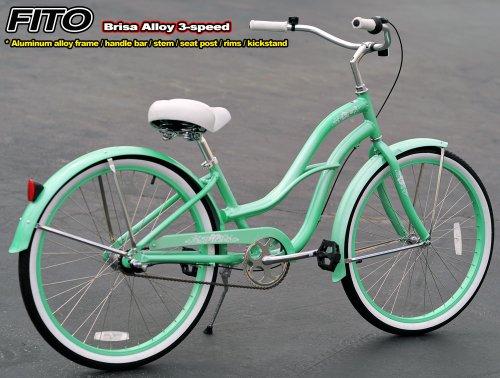 mint green beach cruiser