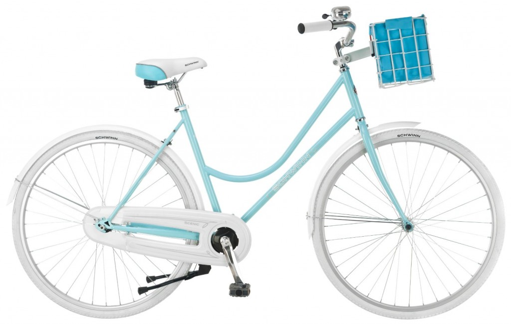 light blue Dutch bike