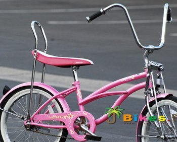 "Micargi Hero 20"" Girls Low Rider Beach Cruiser Bicycle"
