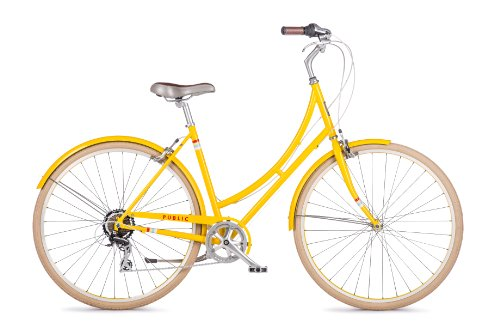 Cute Dutch Style 7-Speed Bike for Women Bright Yellow