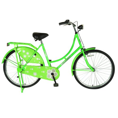 Girly Lime-Green Floral European Bicycle for Women