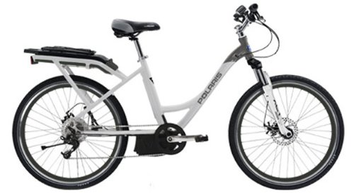 Cool Electric Powered White Cruiser Bicycle