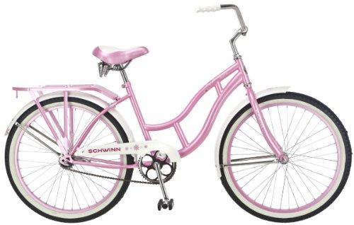 Beautiful Metallic Pink 24-Inch Cruiser Bicycle
