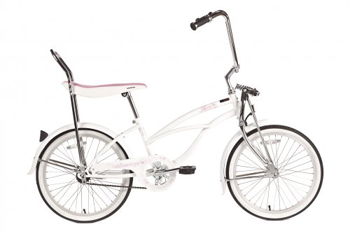 Gorgeous Retro-Style White Cruiser Bike for Girls