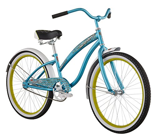 Cute 24 inch Blue Retro Bicycle for Teen Girls