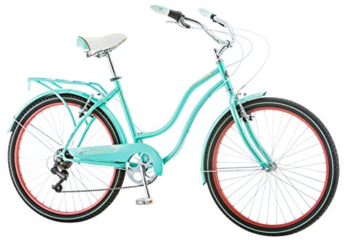 """Schwinn 26"""" Ladies 7 Speed Cruiser Bike, 26-Inch, Blue"""