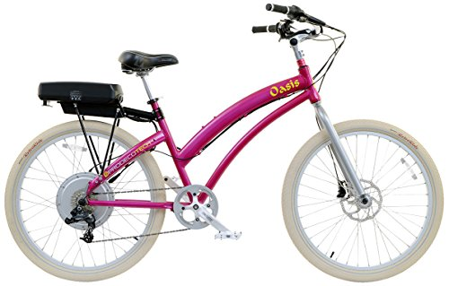 Beautiful Metallic Pink Fast Electric Bike for Women