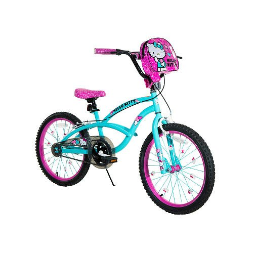 Make sure this fits by entering your model number.; Girls inch Flower Power BMX The only girls bike that includes a doll seat, a basket, streamers, and training wheels Multi-Colored BMX Frame Blue bike frame and fork Green stem and handlebar.