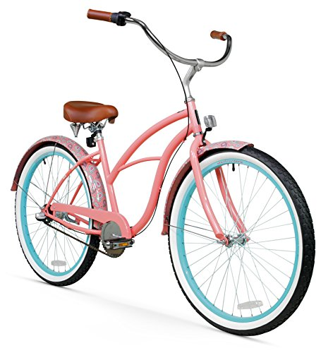 Women's 3-Speed Pink Beach Cruiser Bike