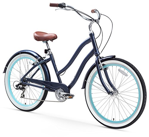 Women's 26-Inch 7-Speed Step-Through Touring Hybrid Bicycle