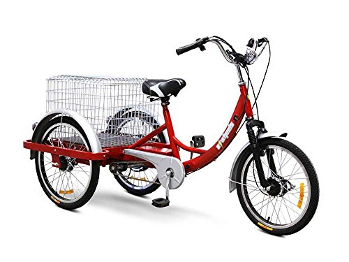 Awesome Red Electric Powered Tricycle for Adults