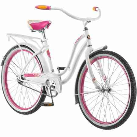 Beautiful 24 inch White Cruiser Bicycle for Girls