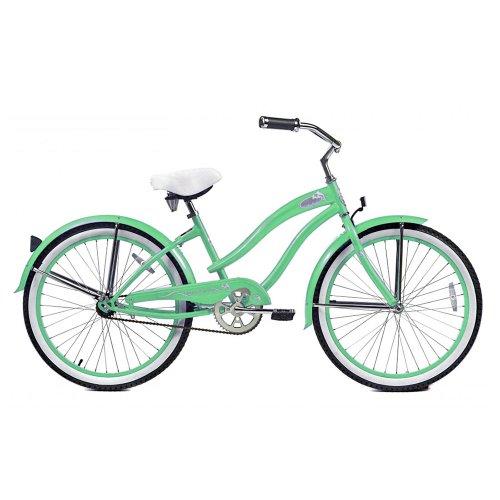 Beach Cruiser Bike, Mint Green, 24-Inch