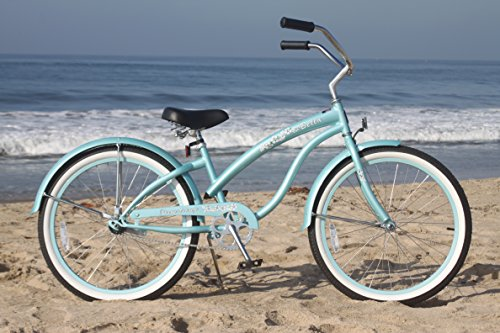 Baby Blue 24 inch Beach Cruiser Bicycle for Girls