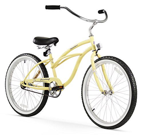 Firmstrong Urban Lady 24 inch Beach Cruiser Bicycle Vanilla
