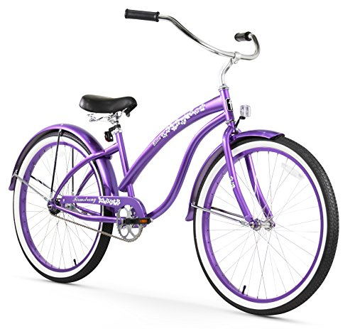 Comfortable Purple Cruiser Bicycle