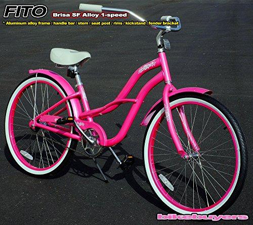 "Hot Pink 26"" Girly Beach Cruiser Bike"