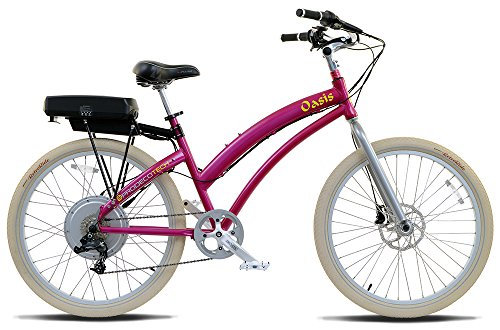 Pink Electric Bicycle for commuting