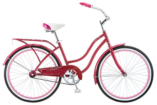 24-Inch PINK Schwinn Cruiser Bike for Teen Girls