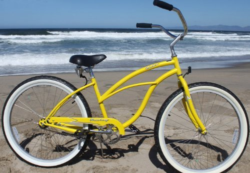 Bright Yellow Beach Cruiser Bicycle