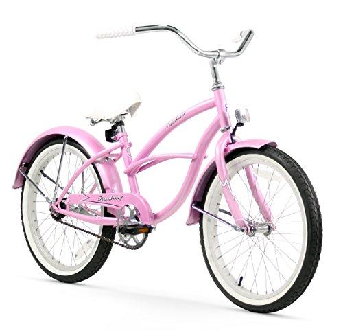 """20"""" Girls Single Speed Pink Beach Cruiser Bicycle"""