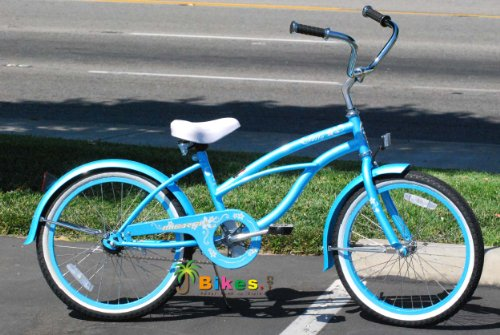 Baby Blue 20″ Beach Cruiser Bicycle