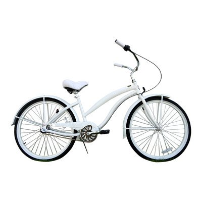 All White Beach Cruiser